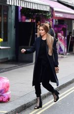 Cheryl Tweedy Spotted around the Soho area of Central London