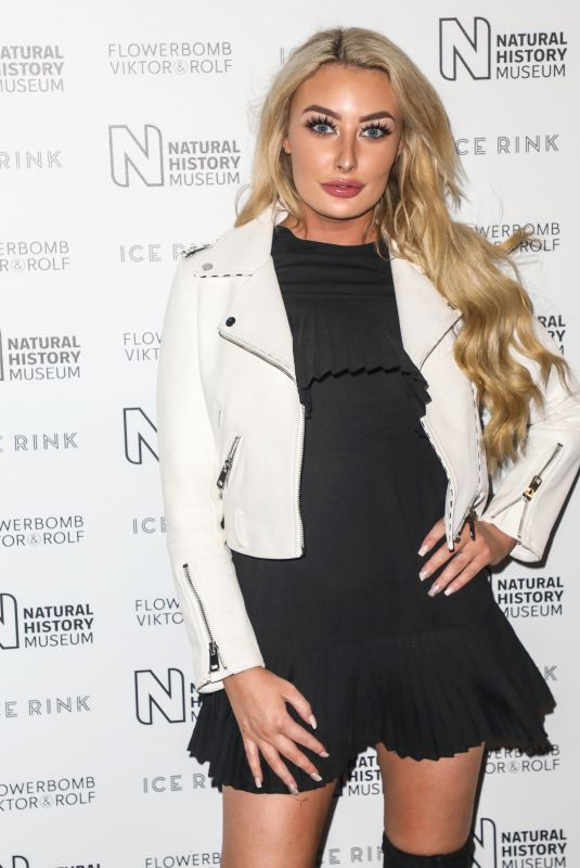 Chloe Crowhurst Attending the launch party for the Natural History Museum Ice Rink in London