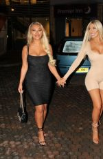 Chloe Ferry and her Geordie Shore co-star Bethan Kershaw head out to an event in London