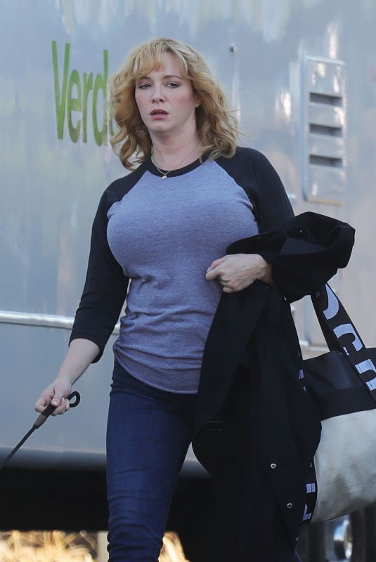 Christina Hendricks Gets back to work in Los Angeles