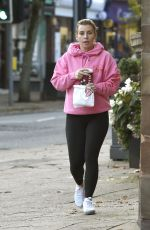 Coleen Rooney Steps Out In Alderley Edge For Coffee in Leeds
