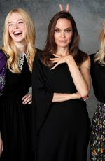 """Elle Fanning, Angelina Jolie and Michelle Pfeiffer promote """"Maleficent: Mistress of Evil"""" in Beverly Hills"""