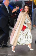 Emilia Clarke Arriving at GMA in NYC