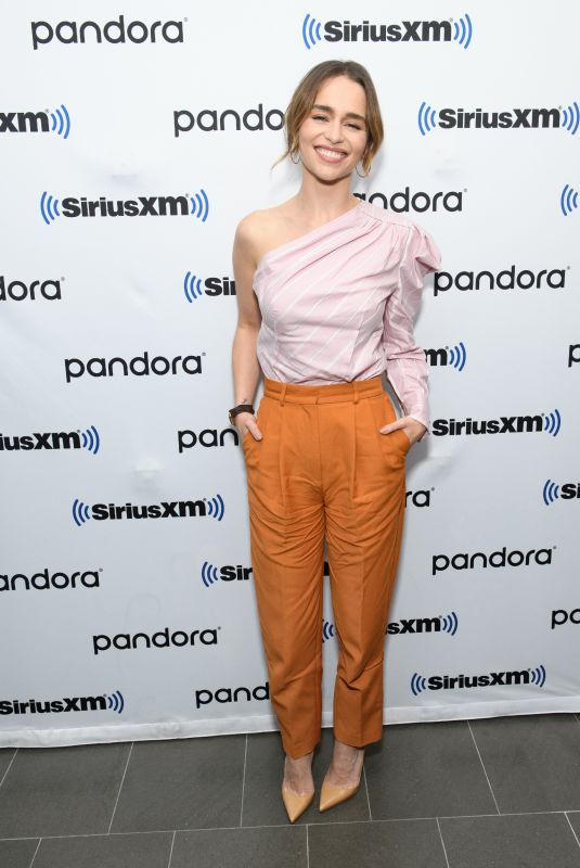 Emilia Clarke At SiriusXM Town Hall for Last Christmas in NY