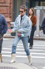 Emily Ratajkowski Out for a stroll with Columbo in New York