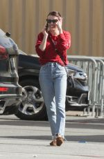 Emma Roberts Arriving at a studio in Los Angeles
