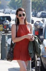 Emma Roberts Meets up with friends for lunch in Los Feliz