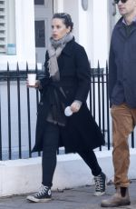 Felicity Jones Out for a morning walk in London