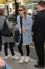 Gigi Hadid Leaves Chanel store rue Cambon after a fitting in Paris