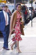 Gugu Mbatha-Raw Is all smiles as she is seen exiting Good Morning America show in New York City