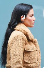 Halsey Steps in front of the camera for a Beats Pro commercial in SoHo