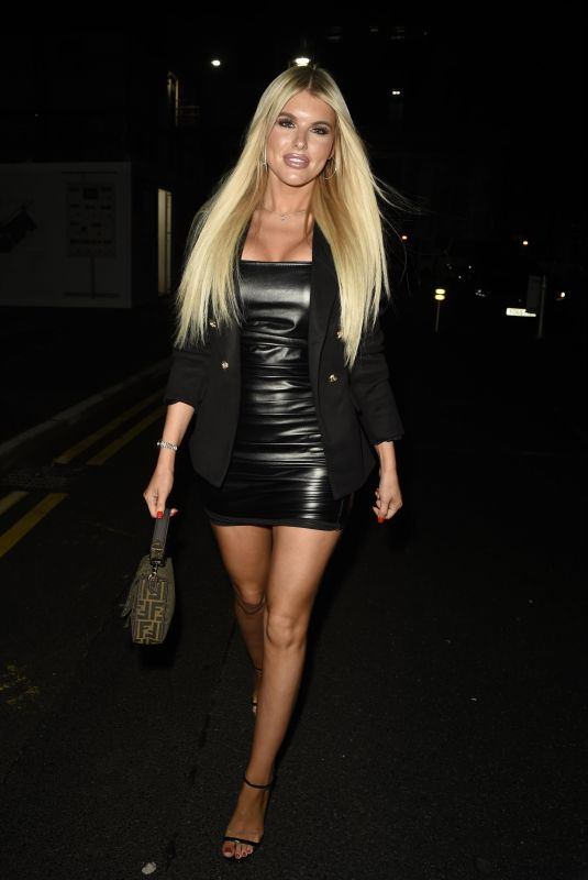 Hayley Hughes Enjoying a night out at Cirque in Manchester