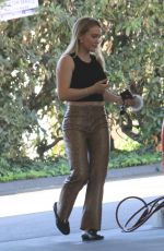Hilary Duff At a gas station in Beverly Hills