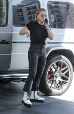 Hilary Duff Stops for gas in West Hollywood