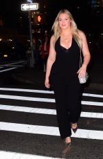 Iskra Lawrence Arriving for the CFDA Cocktail Party in NYC