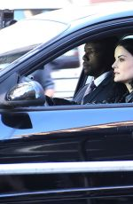 Jaimie Alexander Films on location for NBC Series Blindspot in New York City