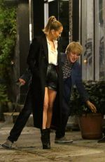 Jennifer Lopez And Owen Wilson walk a dog while filming a romantic scene for their film,
