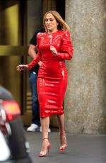 "Jennifer Lopez At Rockefeller Plaza filming ""Marry Me"" in New York City"