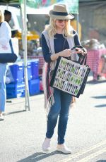 Jessica Collins At Farmer`s Market in Los Angeles