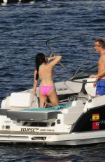 Jessica Wright Heads out on a yacht on holiday in Majorca