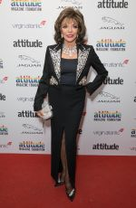 Joan Collins Attends the Virgin Atlantic Attitude Awards 2019 powered by Jaguar at The Roundhouse Camden, London