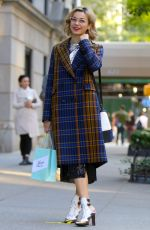 Julia Chan Pictured filming on the set of Katy Keene in Park Avenue, New York