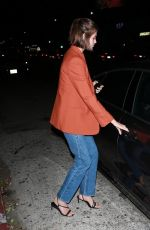 Kaia Gerber Enjoys a romantic dinner at The Nice Guy in West Hollywood