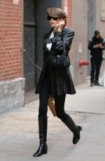 Kaia Gerber Seen outside Highline Stages in NYC