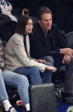 Kaia Gerber Takes in the Chicago Bulls vs New York Knicks game
