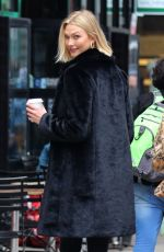 Karlie Kloss Is all smiles while drinking coffee as she makes the streets of New York