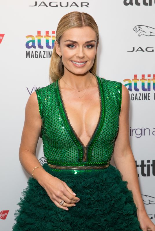 Katherine Jenkins Attends the Virgin Atlantic Attitude Awards 2019 powered by Jaguar at The Roundhouse Camden, London