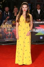 Katherine Langford At Knives Out Premiere at 63rd BFI London Film Festival