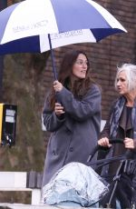 Keira Knightley Joins her mother for a walk with her newborn son in North London
