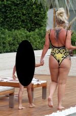 Kerry Katona In Swimsuit Poolside on Holiday in Thailand