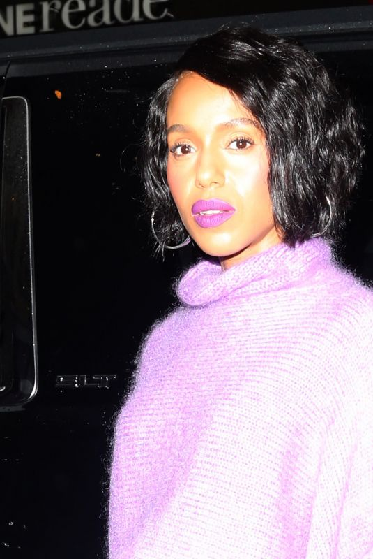 Kerry Washington Is pretty in purple at Today Show in New York