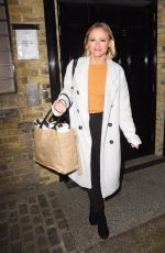 Kimberley Walsh and cast members pictured leaving Big The Musical at the Dominion Theatre in London