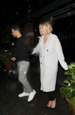 Kimberley Walsh Leaving the Chiltern Firehouse in London