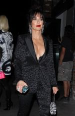 Kyle Richards Shows cleavage while arriving to Beauty & Essex in Hollywood