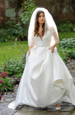 Kym Marsh & Alison King Filming wedding scenes for Coronation Street