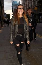 Kym Marsh Enjoys a spot of food with her friends at Peter Street Kitchen in Manchester