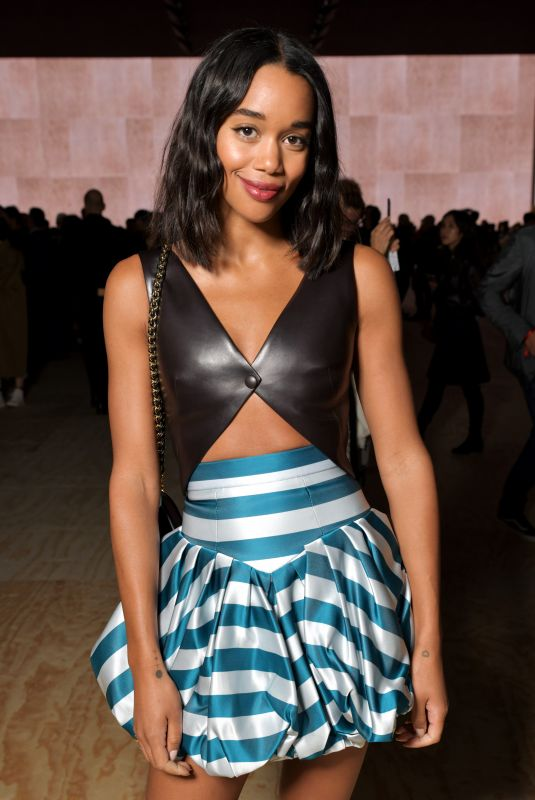 Laura Harrier At Louis Vuitton Fashion Show in Paris
