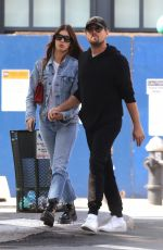 Leonardo Dicaprio and girlfriend Camila Morrone are seen hand-in-hand during a romantic stroll after having lunch in New York