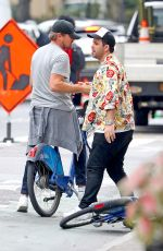 Leonardo DiCaprio and girlfriend Camila Morrone go for a bike ride followed by a hand in hand stroll in New York City