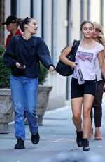 Lily-Rose Depp Out after a workout session in New York