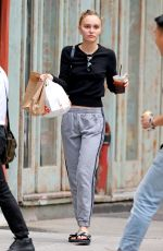 Lily-Rose Depp Out for some snacks in NYC
