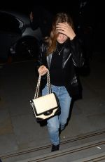 Lily Rose Depp Seen leaving and arriving at The Chiltern Firehouse - London