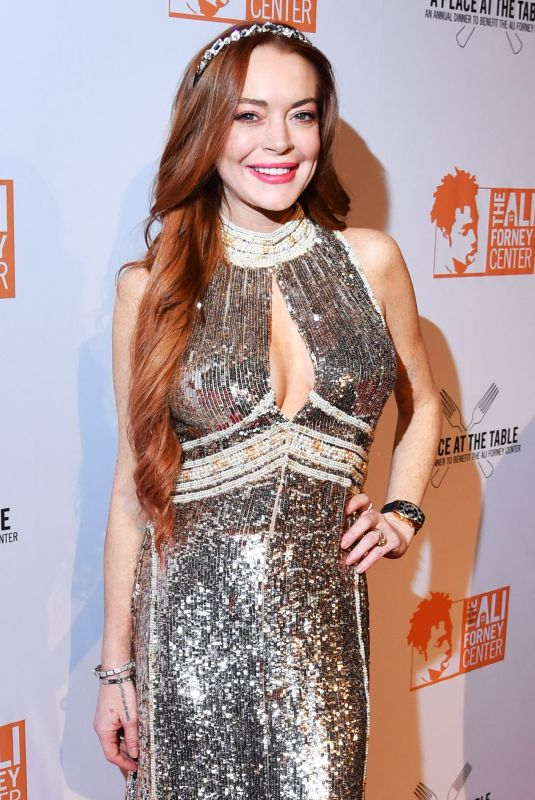Lindsay Lohan At A Place at the Table The Ali Forney Center