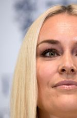 Lindsey Vonn At press conference on the eve of the Princess of Asturias awards ceremony in Oviedo