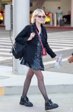 Lucy Boynton Arriving at LAX Airport in Los Angeles