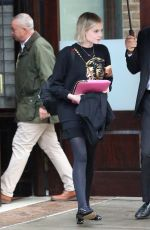 Lucy Boynton Checking out ofher hotel in New York City